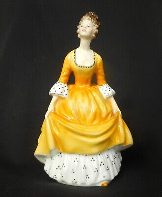 """Royal Doulton Figurine HN  2307 """"Coralie"""" in Yellow Dress and White Underskirt."""