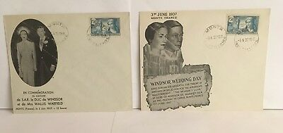 (2 covers) 1937 EDWARD Duke of Windsor & MRS SIMPSON Wedding day 3/6/1937, Monts