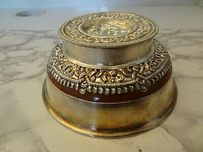 Old Traditional Mongolian Silver Bowl