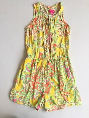 0ad31506ea6 Lilly Pulitzer for Target Challis Romper Happy Place Jumper WOMENS M  Playsuit