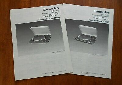 Original Technics SL-BD20 Automatic Turntable System Operating Instructions Book