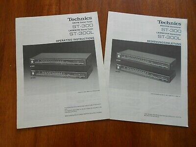 Original Technics ST-300 & ST-300L AM/FM & LW/MW/FM Stereo Tuner Operating Man