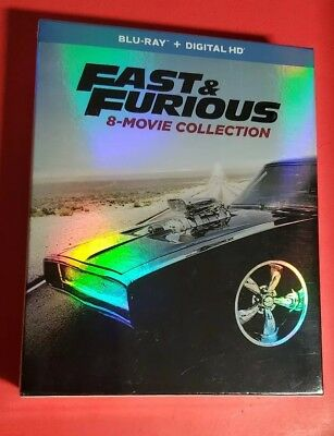 Fast and Furious: 8-Movie Collection Blu-ray Digital Code + 9-Disc Box Set