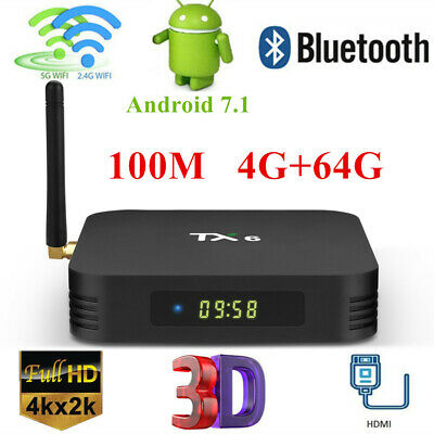 2019 New H6 TV Box Home Dual WiFi USB3.0 100M 4G+64G Media Player Android 7.1