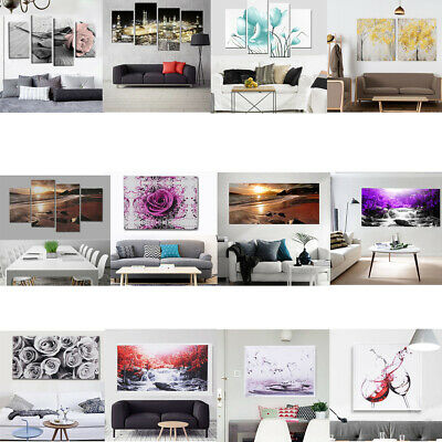 12 Style Rose Flower View Canvas Painting Pictures Wall Art Home Decor Frameless