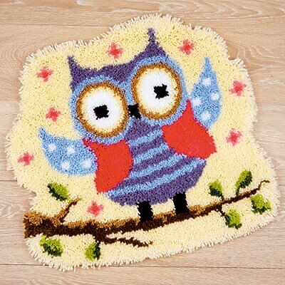 Vervaco Owl Latch Hook Shaped Rug, Multi-Colour