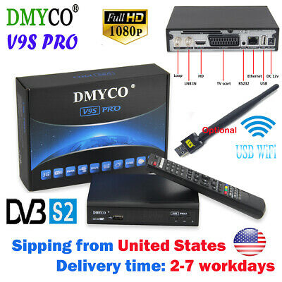 DMYCO V9SPRO MPEG-5 DVB S2 Digital Satellite Receiver Dual-Core Support USB WIFI