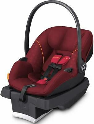 Dragon-fire red GB asana 35 infant car seat and asana base with load leg