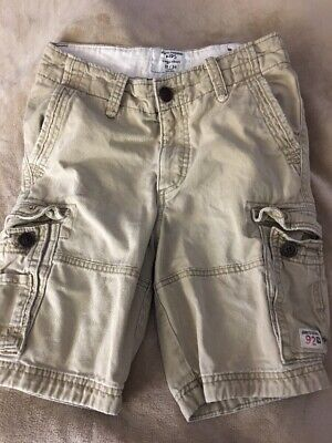 Abercrombie & Fitch Boys 13-14 Cargo Shorts Distressed Beige