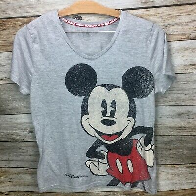 4c53f57c Disney Parks Women's T Shirt Mickey Mouse WDW Heather Gray Short Sleeve  Size 1X