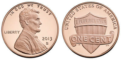 2013 S GEM BU PROOF Lincoln SHIELD CENT BRILLIANT UNCIRCULATED PENNY US COIN PF