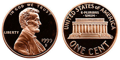 1999 S GEM BU PROOF Lincoln Memorial BRILLIANT UNCIRCULATED PENNY US COIN PF