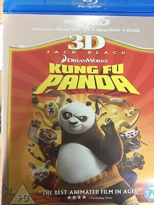 KUNG FU PANDA - BLURAY 2012 AS NEW! *2D Bluray + DVD Discs Only - No 3D Disc*