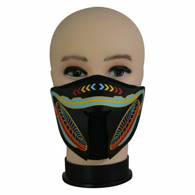 FG-MJ Cold Light Grimace Mask Voice-activated Mask Masquerade Halloween Ma ID
