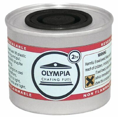 Olympia CB733 Chafing Liquid Fuel, 2 hour, Silver Pack of 12