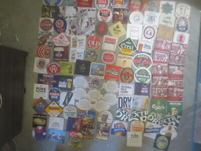 102 different  AUSTRALIAN Breweries Issued  BEER COASTERS