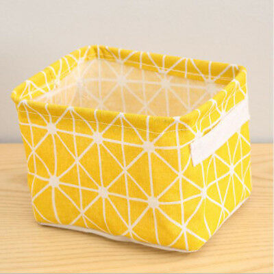 Storage Basket Cotton Linen Bags Sundry Handle Clothes Cabinet Storage Boxes Hot