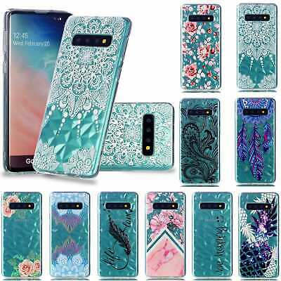 For Samsung Galaxy S10 S10+ Slim Soft Silicone Clear 3D Painted TPU Case Cover