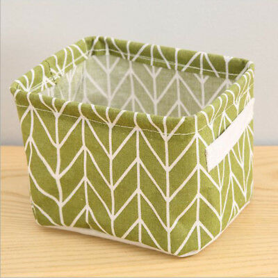 Storage Basket Cotton Linen Bags Sundry Handle Cloth Cabinet Storage Boxes New