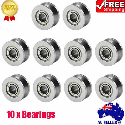 10PC V624ZZ V Groove Ball Bearing Pulley For Rail Track Linear Motion System AU.