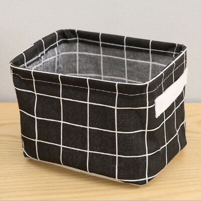 Storage Basket Cotton Linen Bags Sundry Handle Clothes Cabinet Storage Boxes