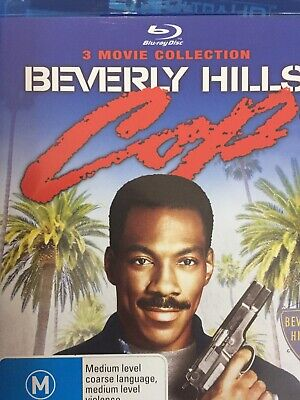 BEVERLY HILLS COP Trilogy - 1 2 3 I II III - 3 x BLURAY Set 2013 AS NEW!