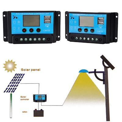 10A/20A 12V 24V Solar Panel Charger Controller Battery Regulator Protection WT