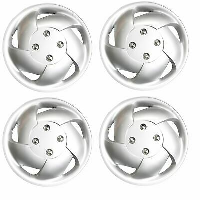 "Set of 4 Cyclone Wheel Trims Hub Caps 15"" Covers Universal Fit"