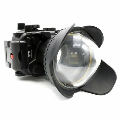 Meikon 40m Waterproof Case + Fisheye Wide Angle Dome Port For Canon G7X Camera