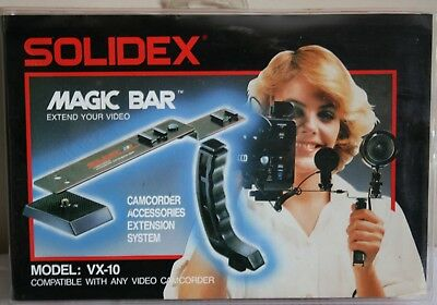 Vintage Solidex Magic Bar Video Camera Camcorder Pistol Grip Bracket Flash Mount