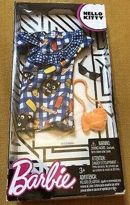 3dd08c80f Barbie Hello Kitty Blue Chococat Dress & Matching Purse And Kitty Headband  NEW