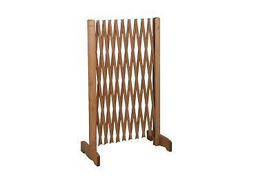 Expanding Portable Wooden Dog Fence Screen Puppy Pet Freestanding Trellis Gate