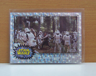Journey to Star Wars Force Awakens Holofoil card #75 Battle in the forest 24/25