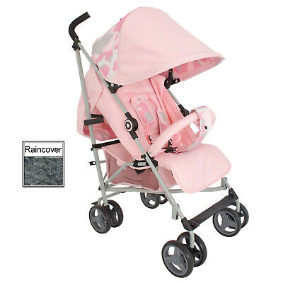 New My Babiie Pink Camo Mb02 Pushchair Compact Stroller With Raincover