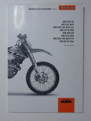 2014 KTM 450 EXC XC-W 500 Six Days RACING MOTORCYCLE OWNERS MANUAL - FRENCH TEXT