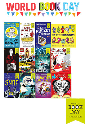 World Book Day 2019 Collection Percy Jackson, Nought Forever, The Great Rocket..