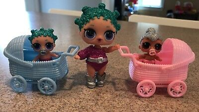 2 Strollers for LOL Little Sister Dolls, LOL Doll Accessory, Dolls Not Included