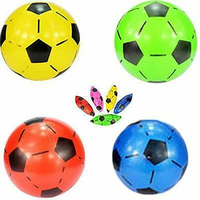 3X Plastic Inflatable Football Sports Training Beach Ball Toys Game Party Bag