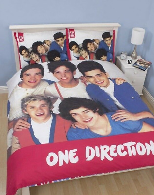 Official One Direction Double Duvet Reversible Bedding Set 1D Pillow Case Cover