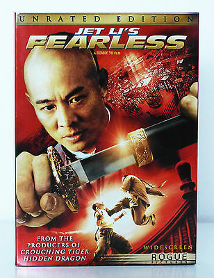 Jet Li's Fearless (Unrated Widescreen Edition) DVD, Region 1, New