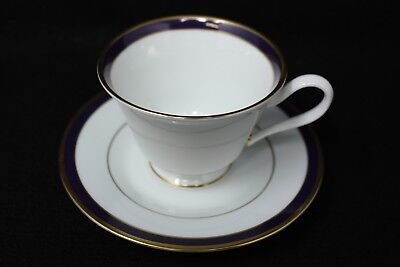 "Lenox ""Annapolis Blue"" Tea cup and Saucer, Mint Condition"