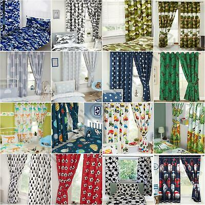 "Generic Curtains Boys - Army, Camouflage, Dinosaurs, Football & More- 54"" & 72"""