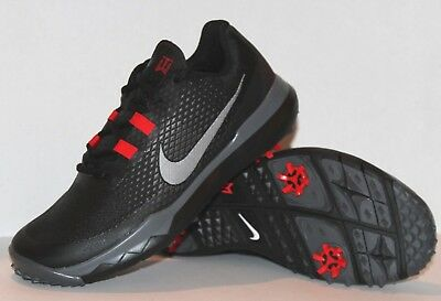cheap for discount 5fb01 624fd  250 NEW Nike TIGER WOODS TW  15 Golf Shoes Mens 9 Black Red Grey 704884