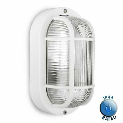 Modern  Outdoor Garden Security Bulkhead Wall Light IP44 Rated - Complete with a