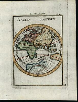Africa Australia World Eastern Hemisphere 1719 Southern continent Mallet map