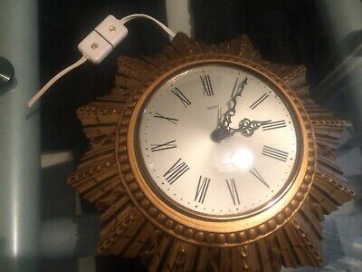 Art Deco 1930 Sunburst Clock