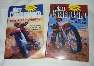 Set of 2 Dirt Bike books by Matt Christopher