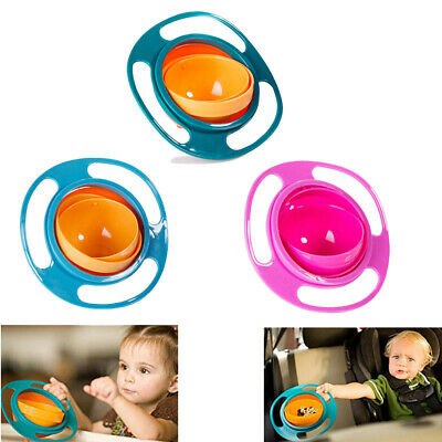 Baby Universal 360 Rotating Spill-Proof Gyro Bowl Feeding Dishes