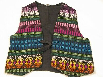 Colorful VINTAGE Kids GUATEMALAN Hippie Hippy VEST~Ethnic