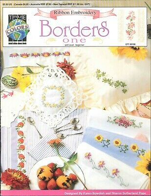Ribbon Embroidery Borders Beginner Book 1 1994 Bowdish Pope Ivy Rose Bouquet